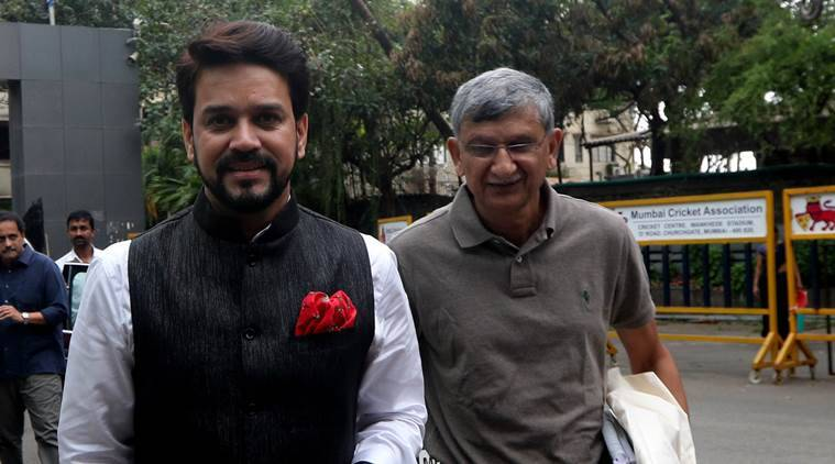Anurag Thakur, Ajay Shirke's official BCCI E-mail address
