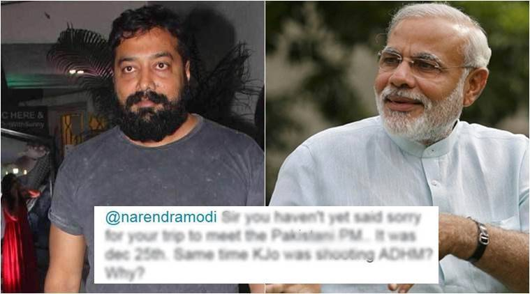 Anurag Kashyap tweeted that Prime Minister Narendra Modi hasn't yet apologised for his trip to Pakistan