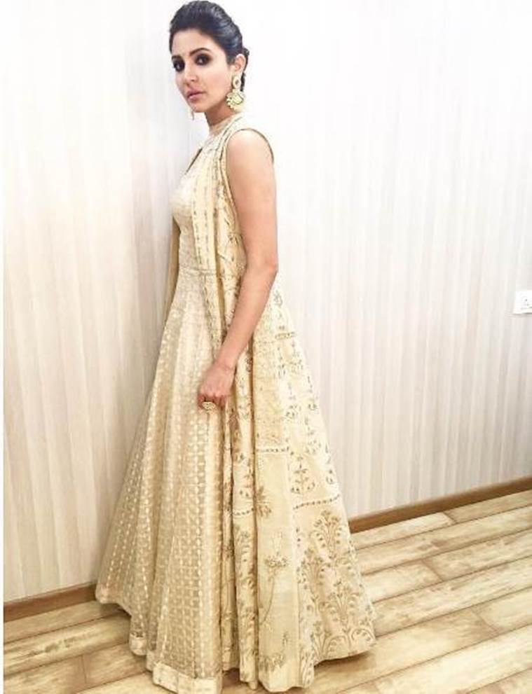 Anushka Sharma in Anita Dongre. (Source: Instagram/Allia Al Rufai)