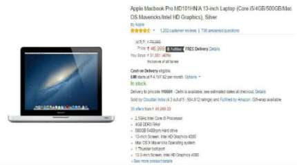 Amazon Great Indian Festival: MacBook Pro and other electronics deals