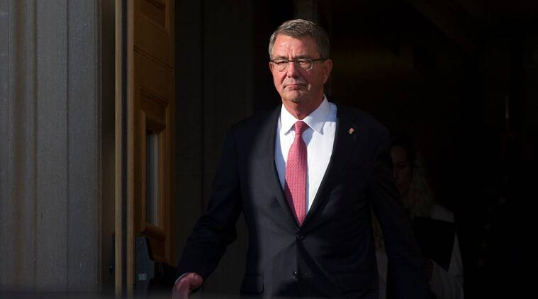 Ashton Carter, Ash Crater, Carter, US US defense secretary, US-Iraq, Iraq-US, US forces, Mosul, Carter's Mosul visit, carter's iraq visit, carter in Iraq, offensive, jihadists, Mosul offensive, Mosul jihadist,  Mosul IS, Mosul Islamic state, islamic state, ISIS,world news, indian express news