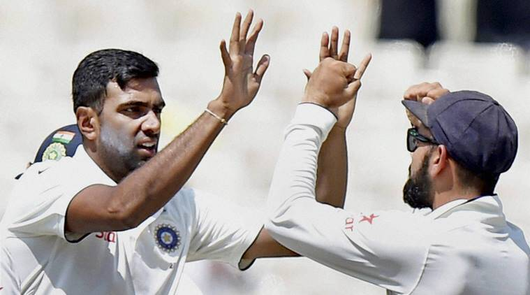 r ashwin, ashwin, ashwin vs new zealand, india vs new zealand day 3, india vs new zealand third test, cirat kohli, kohli, india vs new zealand indore test, indore test, ashwin five wickets, ashwin wickets, cricket news, sports news