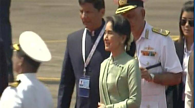 Aung San Suu Kyi, Aung Sang Suu Kyi, Suu Kyi,Aung Sang Suu Kyi india, Suu Kyi india, myanmar, Myanmar india, Myanmar india relations, Myanmar india trade, myanmar news, india news