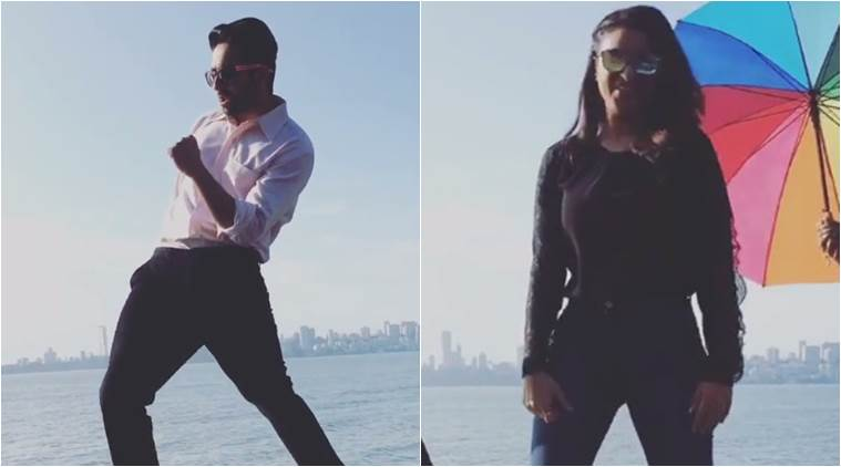 Ayushmann Khurrana and Parineeti Chopra dancin on Marine Drive