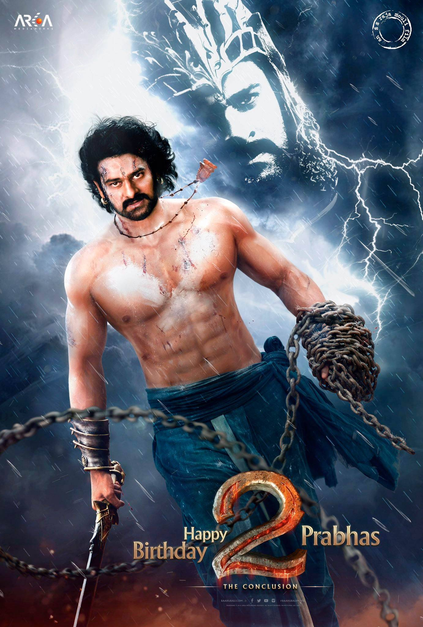 baahubali 2: prabhas makes thunderous entry in the first look, see