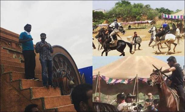 Baahubali 2, Baahubali 2 action sequences, Baahubali 2 movie, Baahubali 2 sets, Baahubali 2 set pics, Baahubali 2 shooting, Baahubali 2 action sequence shooting, Baahubali 2 photos