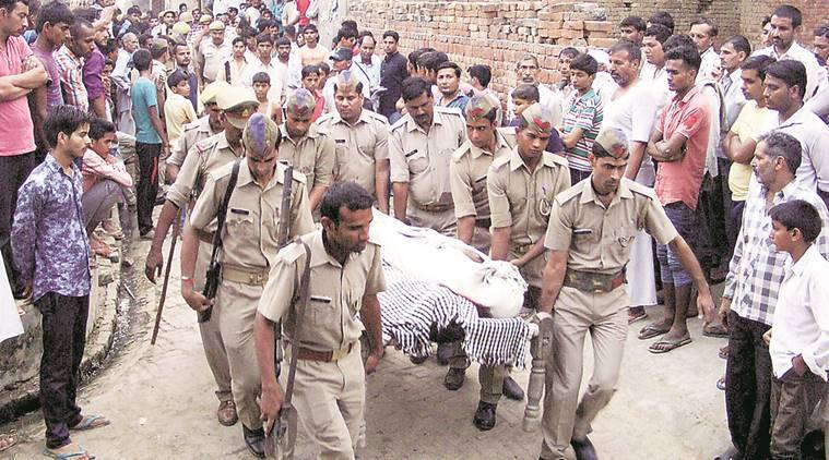 uttar pradesh, up crime, baghpat attack, cops killed, criminal attack, baghpat family attack, indian express news, india news