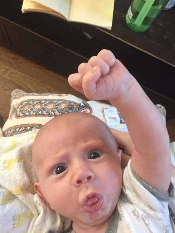 There is no beating this awesome baby at the selfie game!