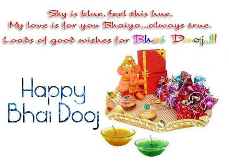 Happy bhai dooj 2016 wallpapers images pictures greetings wishes if ones brother is in a far way place sisters can look at the moon m4hsunfo
