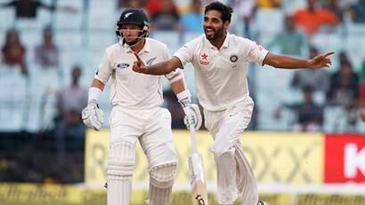 India vs New Zealand, 2nd Test: Bhuvneshwar Kumar five-for toils New Zealand on day 2