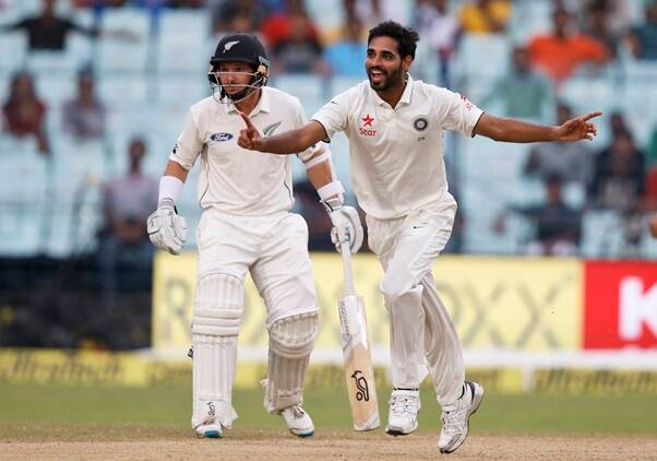 Bhuvneshwar Kumar, Bhuvi, India vs New Zealand, Ind vs nz, ind vs nz 2nd test, ind vs nz Kolkata test, ind vs nz day 2, ind vs nz highlights, ind vs nz photos, India vs New Zealand photos, India cricket, New Zealand cricket team, India vs nz score, ind vs nz highlights, Cricket news, Cricket