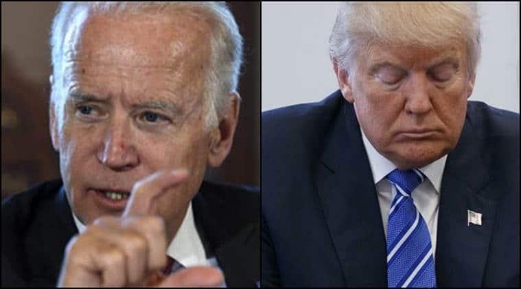US presidential elections, BIden VS trump, bernie sanders, Joe biden democrat, indian express, world news, US elections