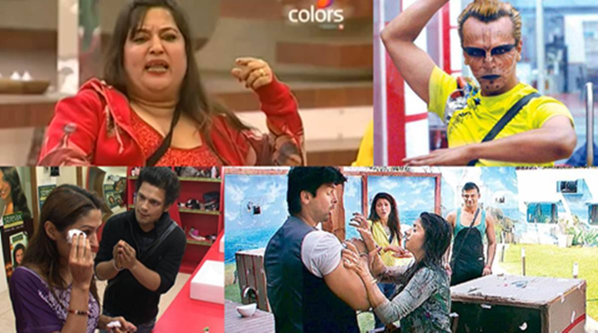 Image result for fight in bigg boss
