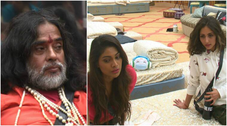 bigg boss, bigg boss 10, bigg boss 10 live update, bigg boss 10 episode 2, bigg boss 10 day 2, bigg boss 10 18th october, bigg boss 10 swami om lopamudra akanksha, bigg boss 10 swami fight lopamudra, bigg boss 10 fights, bigg boss 10 controversy, bigg boss 10 lopamudra akanksha, bigg boss 10 lopa akanksha, bigg boss 10 swami comments, bigg boss 10 swami exist, bigg boss 10 news, bigg boss 10 review, bigg boss 10 episode summary, bigg boss 10 episode, television news, entertainment updates, indian express, indian express news