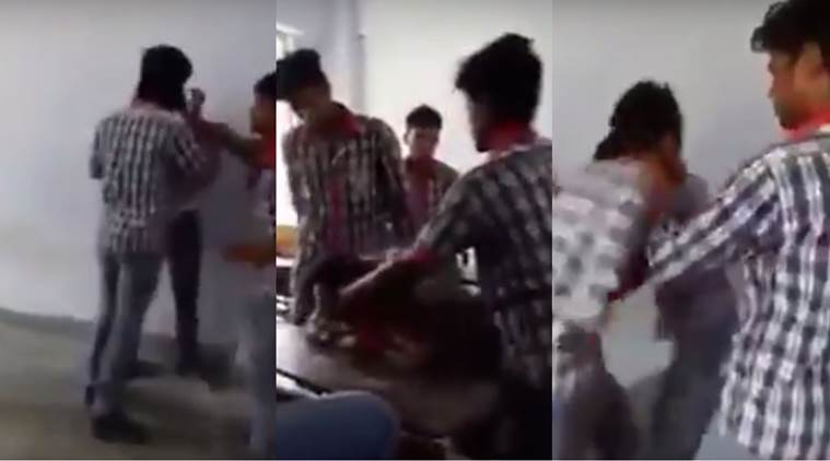 kendriya vidyalaya, KV video, KV ragging video, kendriya vidyalaya ragging, bihar students ragging, kv assault, kendriya vidyalaya assault. bihar student video, bihar students hitting classmate, KV viral video, students hitting classmate, muzaffarpur, india news