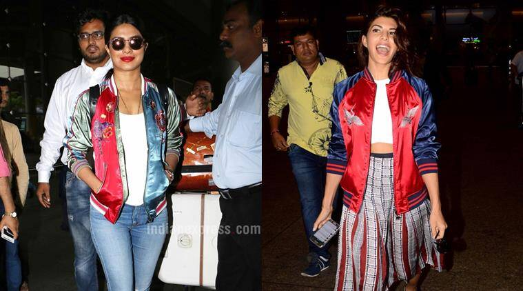 Bomber jackets are a big deal these days and Bollywood celebs are totally rocking this trend. (Source: Varinder Chawla)