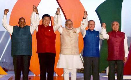 China issues special postal stamp for 9th BRICS summit