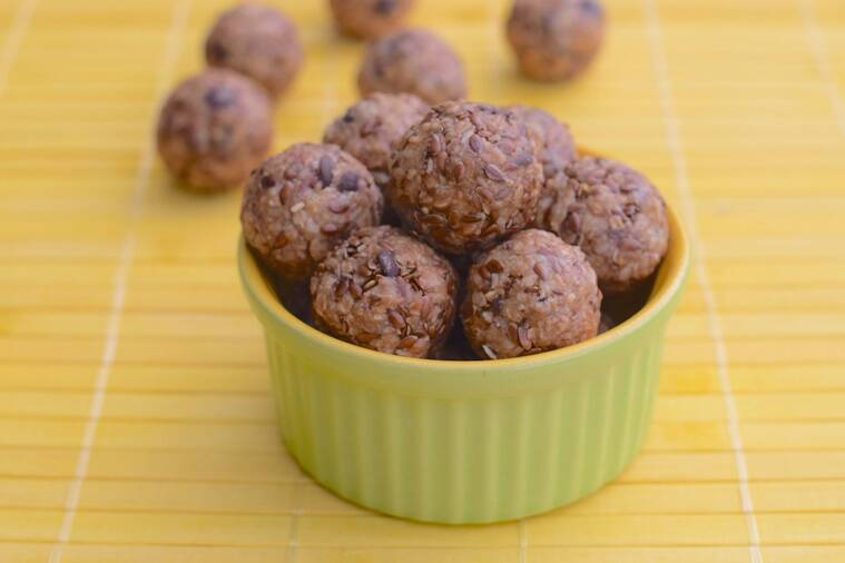 Chocolate chip peanut butter energy balls