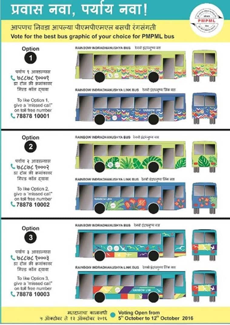 PMPML, pune, pune bus colour, PMPML bus colour, pune bus colour change, pune news, indian express news