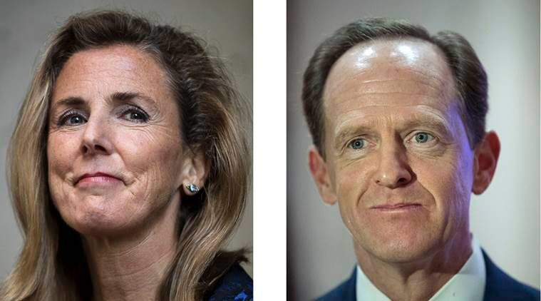 Pennsylvania Senate debate, Pennsylvania debate, Pat Toomey, Katie McGinty, republicans, democrats, Pennsylvania elections, world news, indian express news