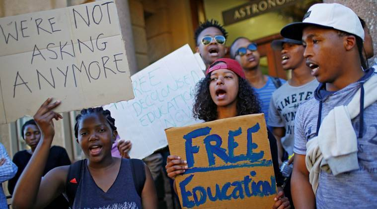 Johannesburg university, free education protest, free education protest South Africa, South africa, Africa protest, education protest in Africa, Cape town University, Johannesburg university, latest news, latest world news