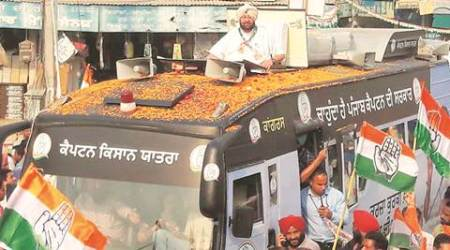 Captain Amarinder Singh embarks on 3-day Kisan Yatra, Bajwa missing from flag-off