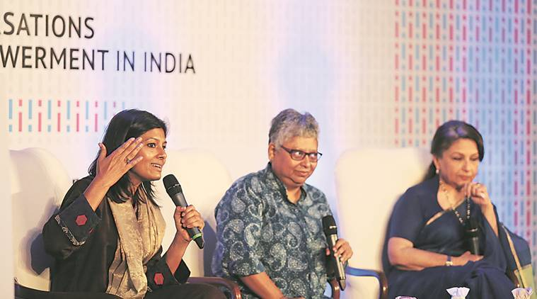 nandita das, women empowerment, wpmen rights, gender equality, delhi women event, sharmila tagore, Apur Sansar,  Caravan magazine,  event, gender empowerment, indian express talk