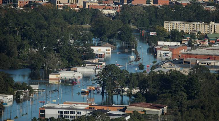 Hurricane matthew, north carolina, emergency, north carolina emergency, Hurricane matthew US, US hurricane, US flood, north carolina matthew, north carolina hurricane, north carolina floods, north carolina flooded, world news, indian express