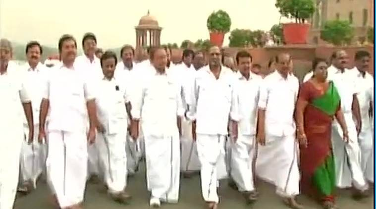 Anna Dravida Munnetra Kazhagam, Cauvery issue, AIADMK, Parliament House, AIADMK members march to Parliament house,  Cauvery Management Board, India news, Latest news