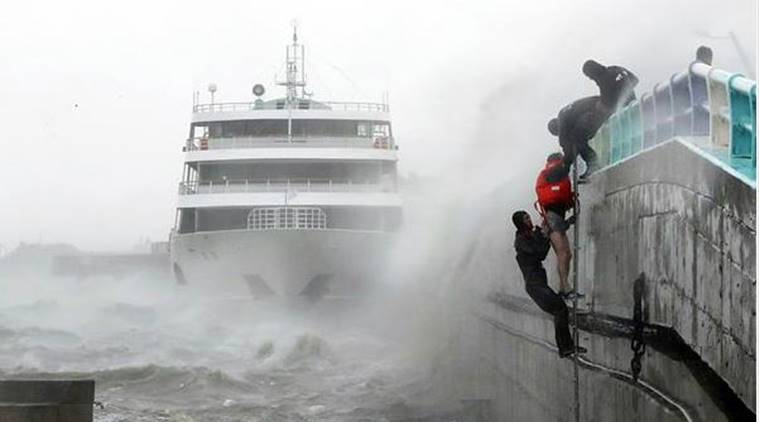 South Korea, South Korea typhoon, typhoon, typhoon Chaba, floods, South Korea news, world news, latest news, Indian express