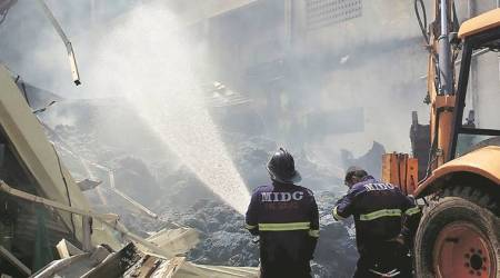 Fire breaks out at Kwality Restaurant inCamp