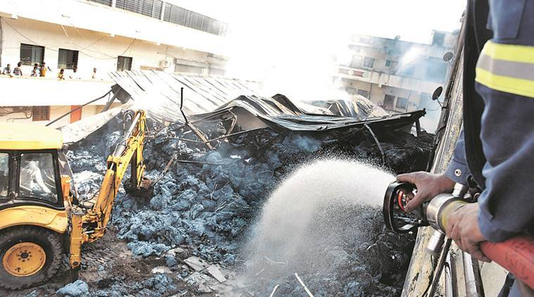 chakan fire, pune fire, chakan unit fire, chakan cotton unit fire, chakan factory fire, pune news, pune fire safety, india news