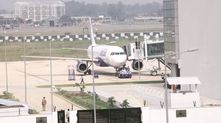 chandigarh airport, chandigarh airport winter schedule, india news, indian express,