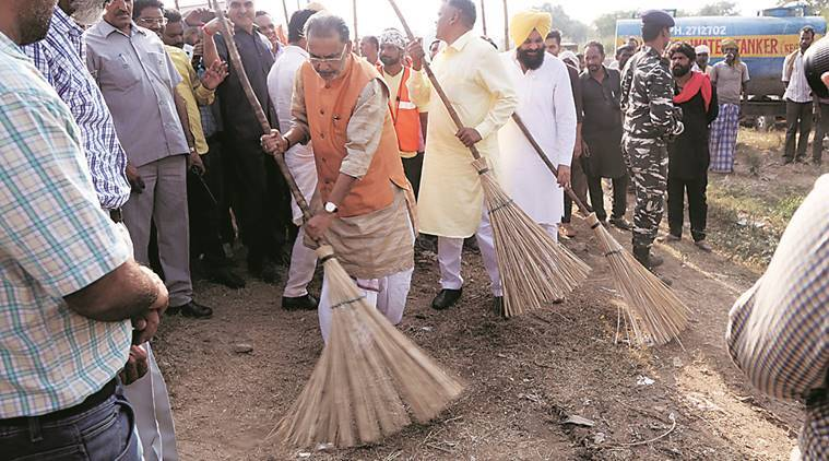 Union Agriculture Minister Radha Mohan Singh, swach bharat abhiyan chandigarh, agriculture in india, indian express,