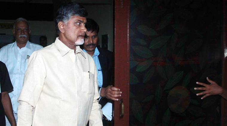 Andhra Pradesh Chief minister Chandrababu Naidu  in new Delhi on Feiday express photo by Prem nath Pandey 10 july 15