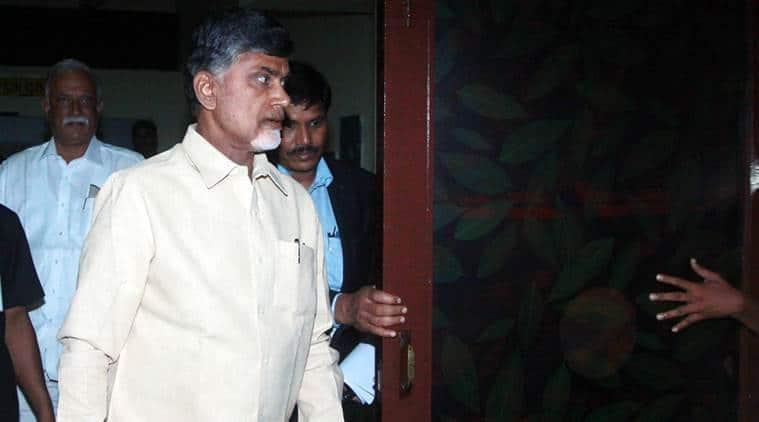 Andhra Pradesh Chief minister Chandrababu Naidu  in new Delhi on Feiday express photo by Prem nath Pandey 10 july 15