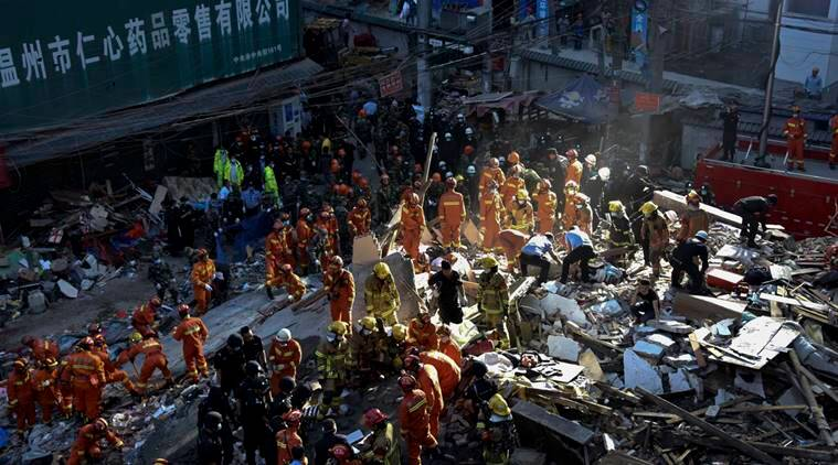 china building collapse, china building collapse rescue, building collapse, china news, world news
