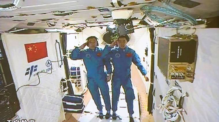 china, china space mission, china space station, china Shenzhou 11, Shenzhou 11 china, china spacecraft, china space man mission, china launches longest man mission, latest news, latest science news, indian express news