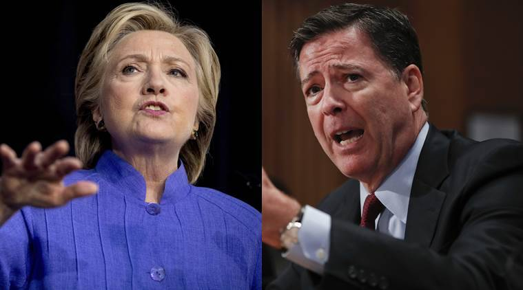Hillary clinton, Clinton, FBI, Clinton email, FBI email enquiry, James Comey, FBI director James Comey, Hilary clinton email, US, US elections, US polls, US presidential elections 2016, world news, indian express news