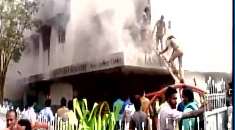 Coimbatore fire, student dies in building fire, fire in Coimbatore building, Coimbatore news, India news, latest news, Indian express