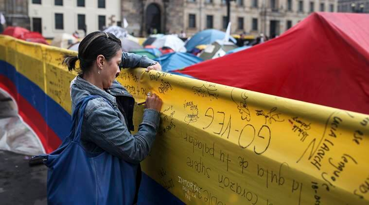 Colombia Peace Camp, Bogota Peace Camp, Colombia peace accord, Colombia, news, latest news, world news, international news, Colombia news