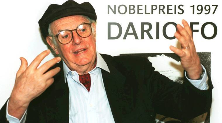 dario fo, dario fo dead, Accidental Death of an Anarchist, nobel prize for literature 1997, dario fo Accidental Death of an Anarchist, Franca Rame, italian playwright dario fo, indian express, indian express news