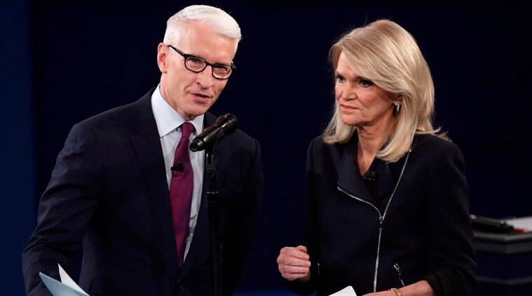 donald trump, hillary clinton, anderson cooper, martha raddatz, cnn, abc, us debate, second US debate, presidential debate, US election news