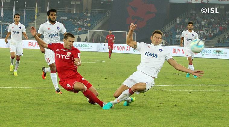 Delhi Dynamos vs NorthEast United FC, NorthEast United FC vs Delhi Dynamos, Kean Lewis, Emiliano Alfaro, ISL 2016, Indian Super League, Football news, Football