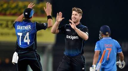 Indian batsmen falter as Kiwis level series in Ranchi