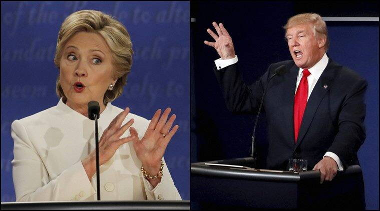 Hillary Clinton, Donald Trump, US presidential debate, US presidential debate results polls, presidential debate results polls, world news, indian express
