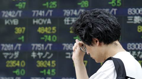 asian stocks, asia stocks, stocks, asia stock markets, dollar high, asia stocks down dollar high, dollar 9 month high, asia economy, business news, indian express
