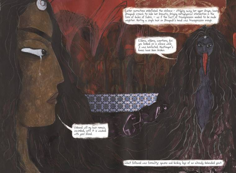 Panels from Sauptik: Blood and Flowers — Draupadi's Wrath. (Source: Mark Sequeira)