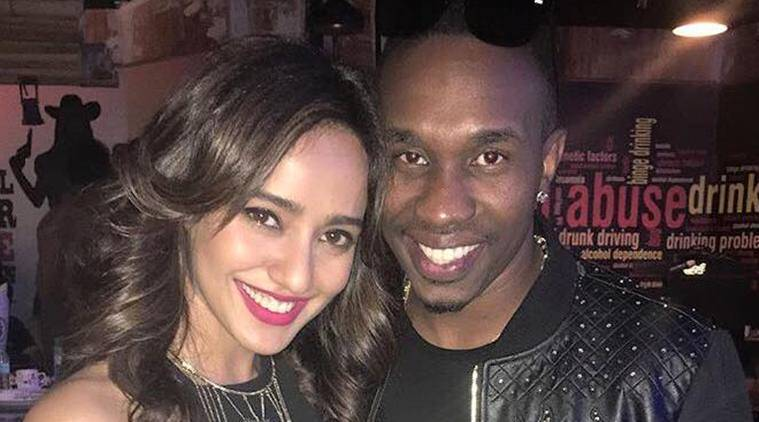 neha sharma, dwayne bravo, neha sharma dwayne bravo, dwayne bravo single, dwayne bravo tum bin 2, dwayne bravo tum bin 2 song, dwayne bravo bollywood debut, indian express, indian express news, entertainment news