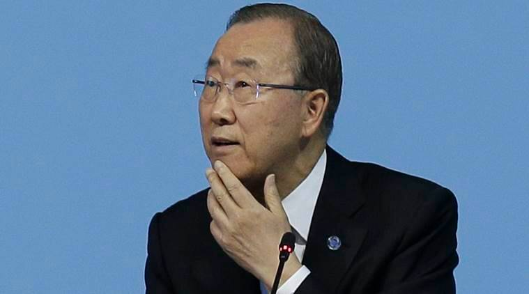 ban ki moon, united nations secretary general, united nations, world news, indian express,
